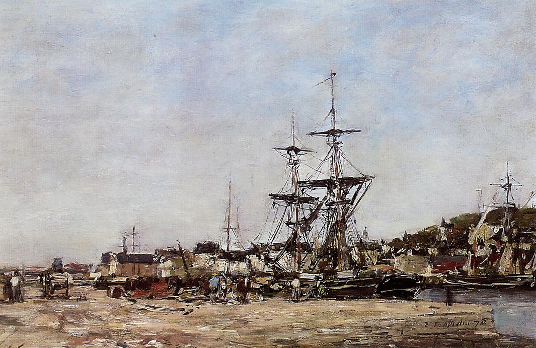 Deauville the Docks 1875 | Eugene Louis Boudin | Oil Painting
