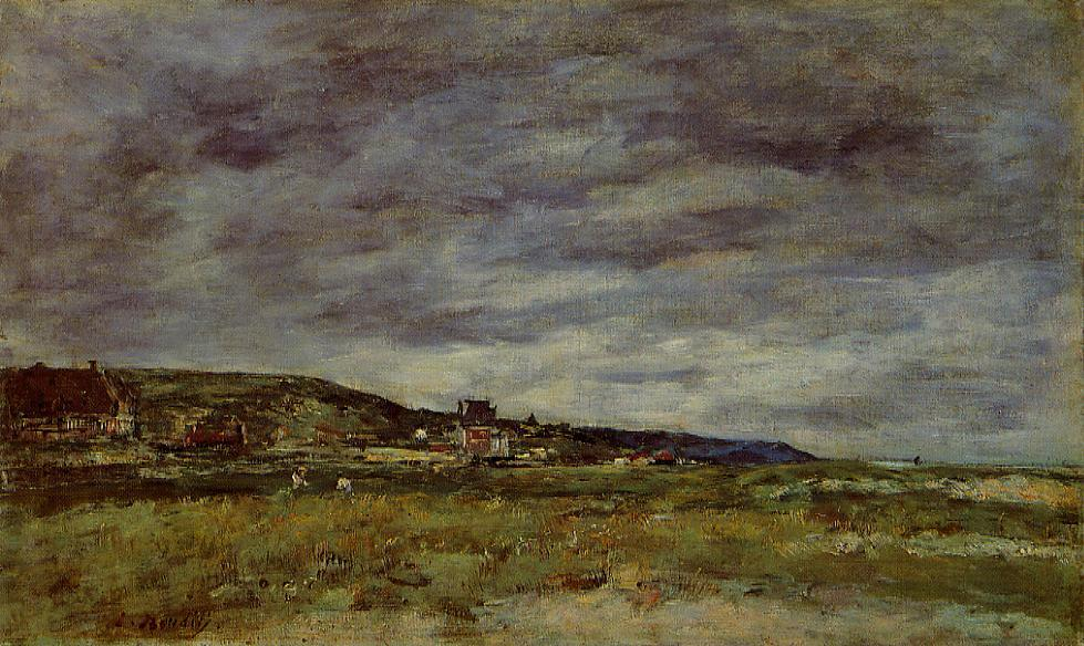 Deauville the Dunes2 1888-1895 | Eugene Louis Boudin | Oil Painting