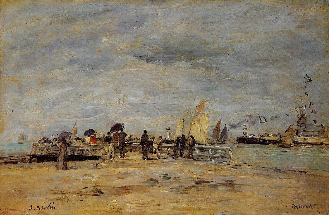 Deauville the Jetty 1888-1895 | Eugene Louis Boudin | Oil Painting