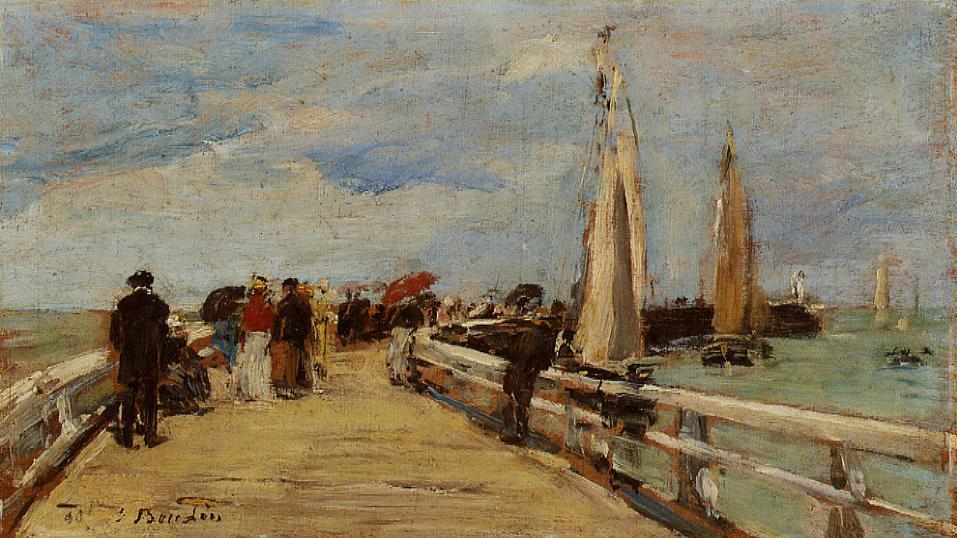 Deauville the Jetty 1890 | Eugene Louis Boudin | Oil Painting