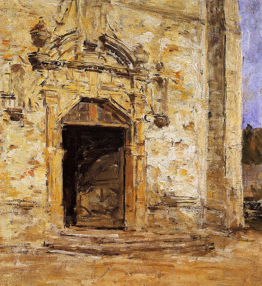 Door of the Touques Church 1888-1895 | Eugene Louis Boudin | Oil Painting