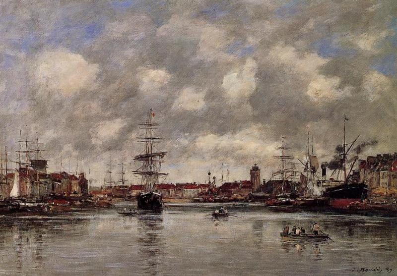 Dunkirk the Hollandaise Basin 1889 | Eugene Louis Boudin | Oil Painting