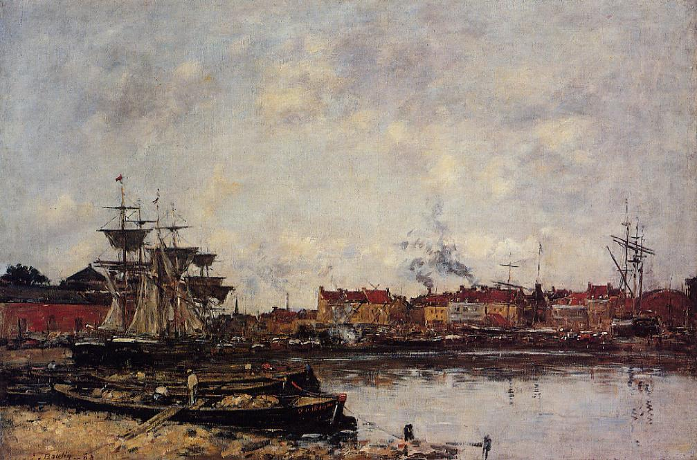Dunkirk the Inner Port 1889 | Eugene Louis Boudin | Oil Painting