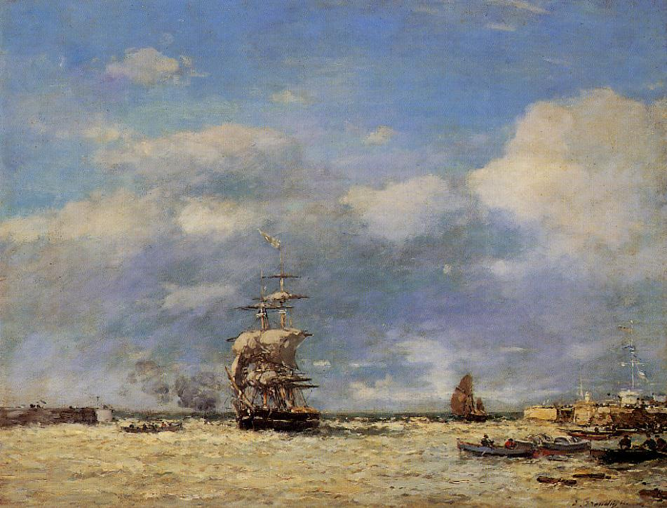 Entering the Port of Havre 1864 | Eugene Louis Boudin | Oil Painting