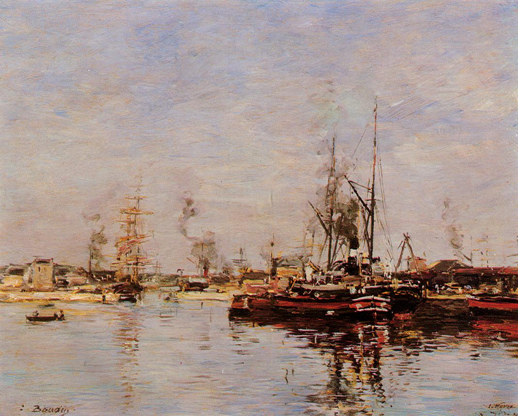 Entrance to the Port of Le Havre 1889 | Eugene Louis Boudin | Oil Painting