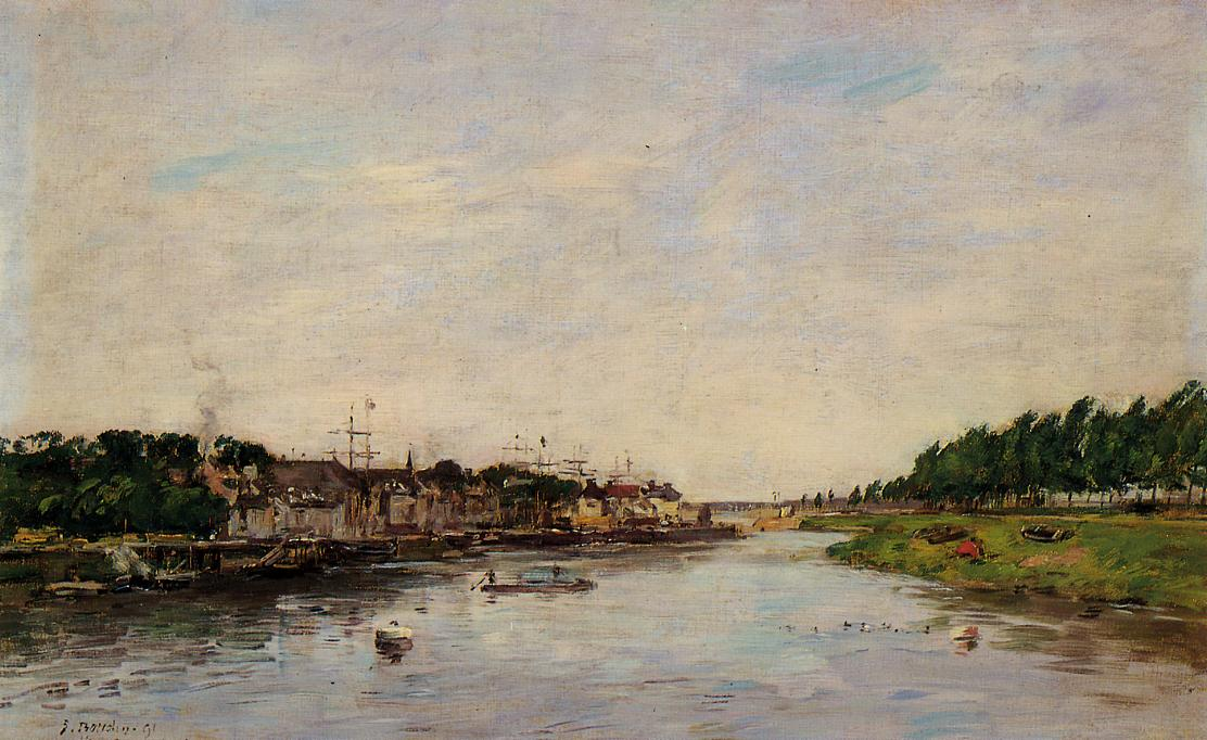 Entrance to the Port of Saint-Valery-sur-Somme 1891 | Eugene Louis Boudin | Oil Painting