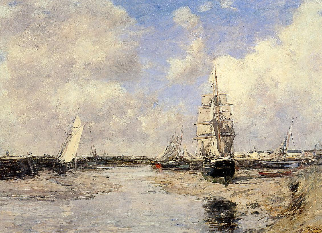 Estuary at Trouville 1880 | Eugene Louis Boudin | Oil Painting