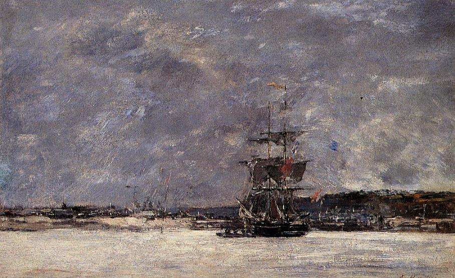 Estuary near Camaret 1871 | Eugene Louis Boudin | Oil Painting