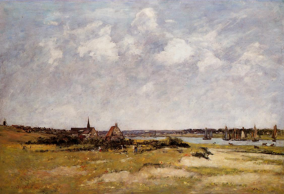 Etaples La Canache High Tide 1890 | Eugene Louis Boudin | Oil Painting