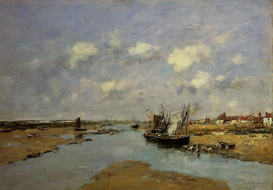 Etaples La Canache Low Tide 1890 | Eugene Louis Boudin | Oil Painting