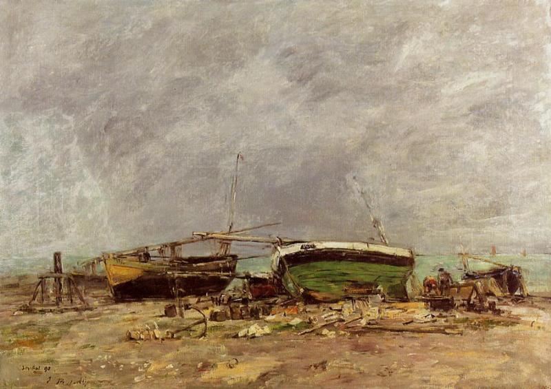 Etretat 1890 | Eugene Louis Boudin | Oil Painting