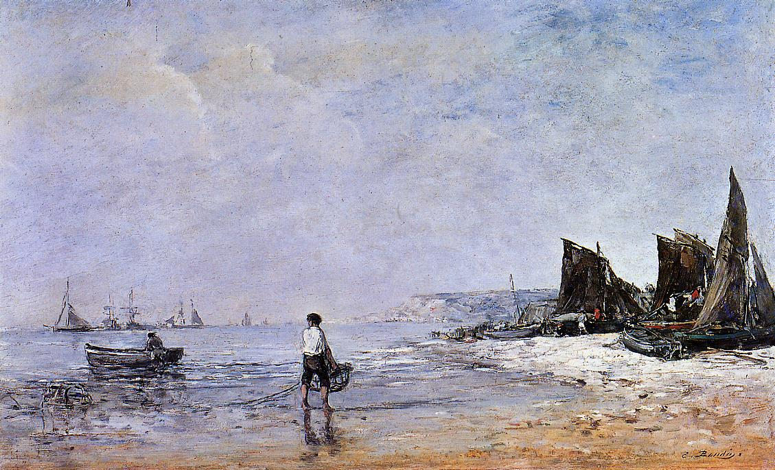 The Fisherman Low Tide 1862-1865 | Eugene Louis Boudin | Oil Painting