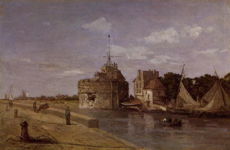 The Francois I Tower at Le Havre 1854 | Eugene Louis Boudin | Oil Painting
