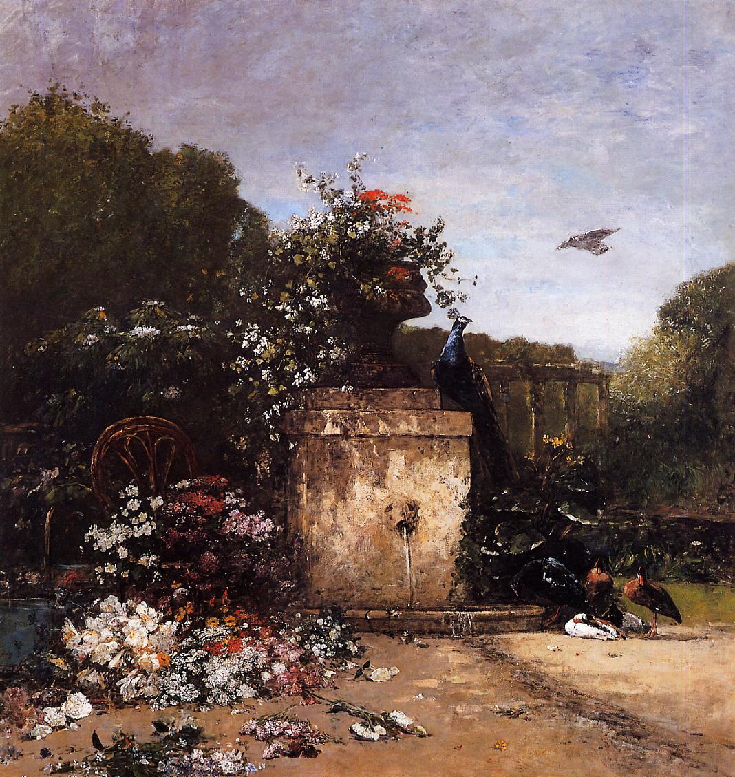 The Garden 1869 | Eugene Louis Boudin | Oil Painting