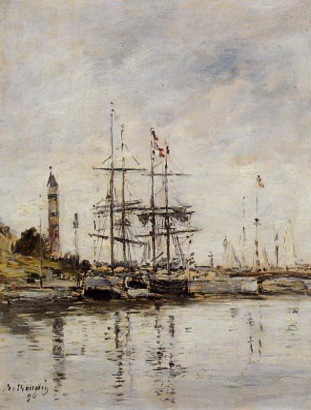 The Harbor at Deauville 1896 | Eugene Louis Boudin | Oil Painting