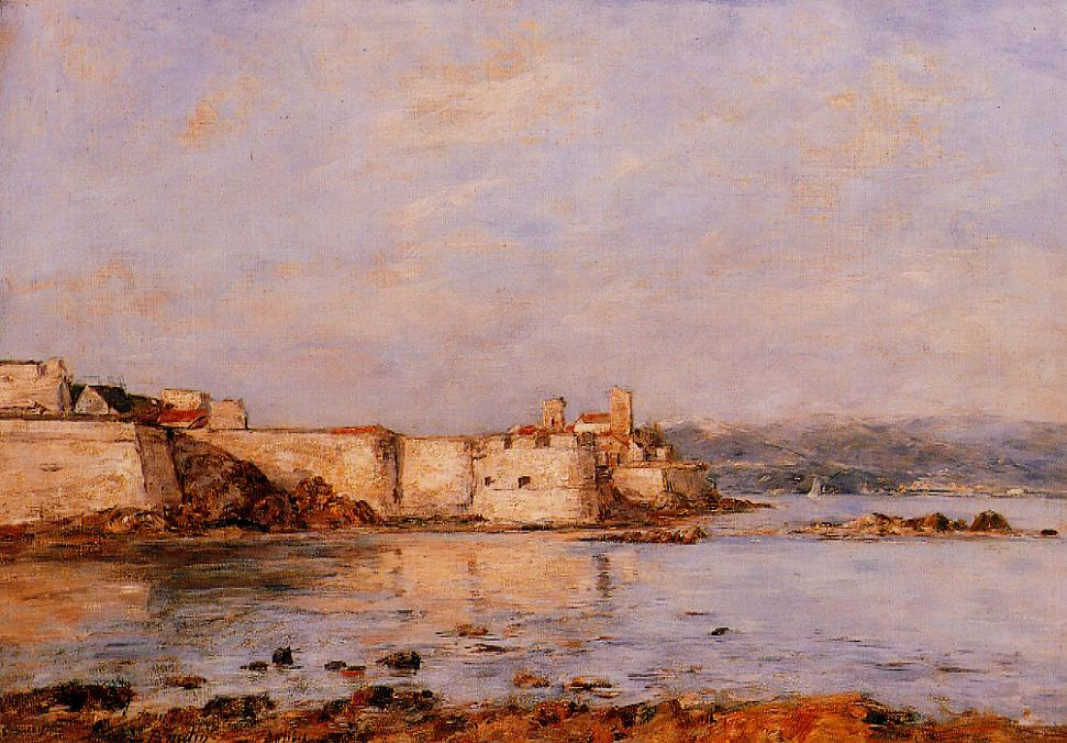 The Harbor of Antibes | Eugene Louis Boudin | Oil Painting