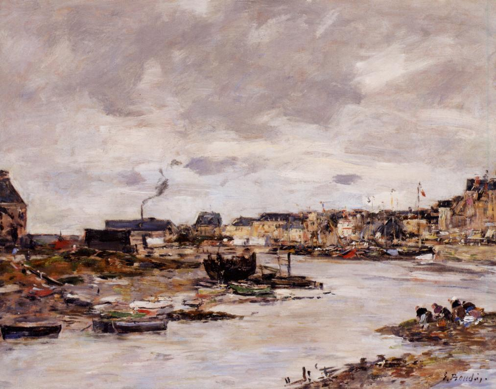 The Inner Port of Trouville at Low Tide | Eugene Louis Boudin | Oil Painting