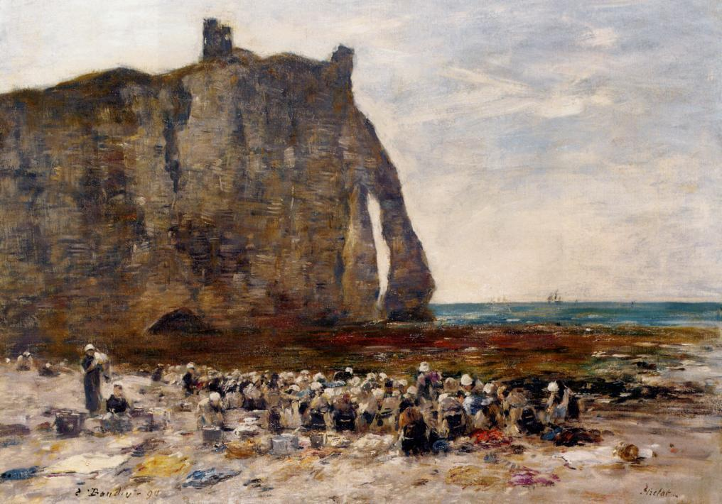 The Jettys Low Tide Trouville 1891 | Eugene Louis Boudin | Oil Painting