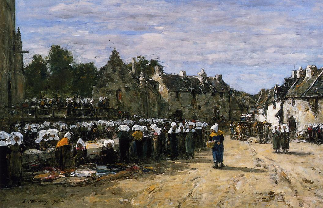 The Lock at Trouville 1894 | Eugene Louis Boudin | Oil Painting