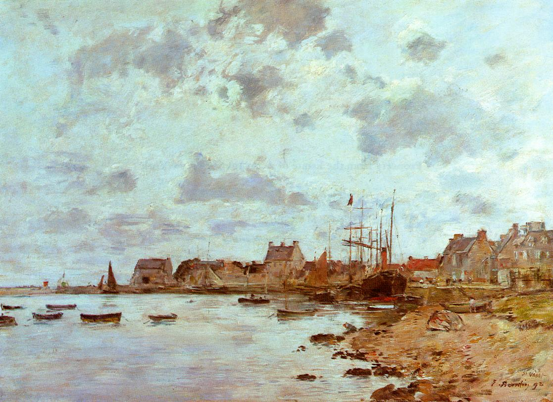 The Port at Deauville | Eugene Louis Boudin | Oil Painting
