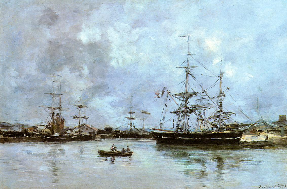 The Port of Bordeaux 1875 | Eugene Louis Boudin | Oil Painting