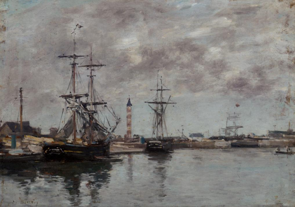 The Port of Deauville 1878 | Eugene Louis Boudin | Oil Painting