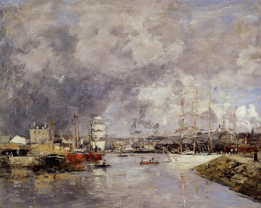 The Port of Deauville 1888-1895 | Eugene Louis Boudin | Oil Painting