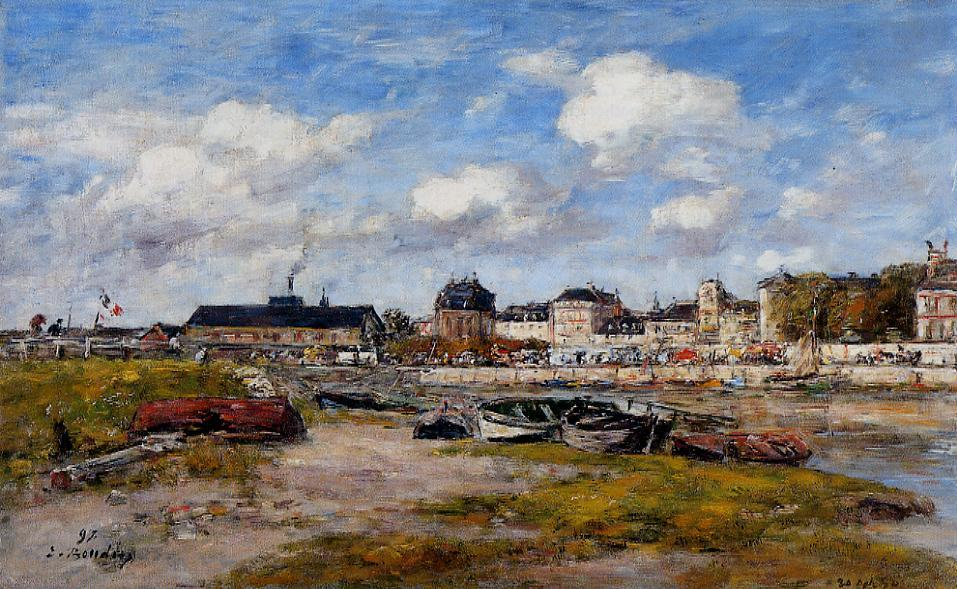 The Port of Trouville High Tide 1880 | Eugene Louis Boudin | Oil Painting