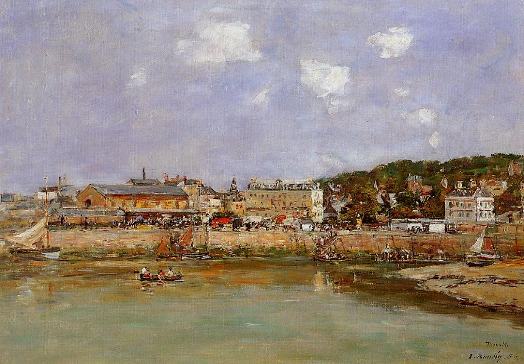 The Port of Trouville Low Tide 1897 | Eugene Louis Boudin | Oil Painting