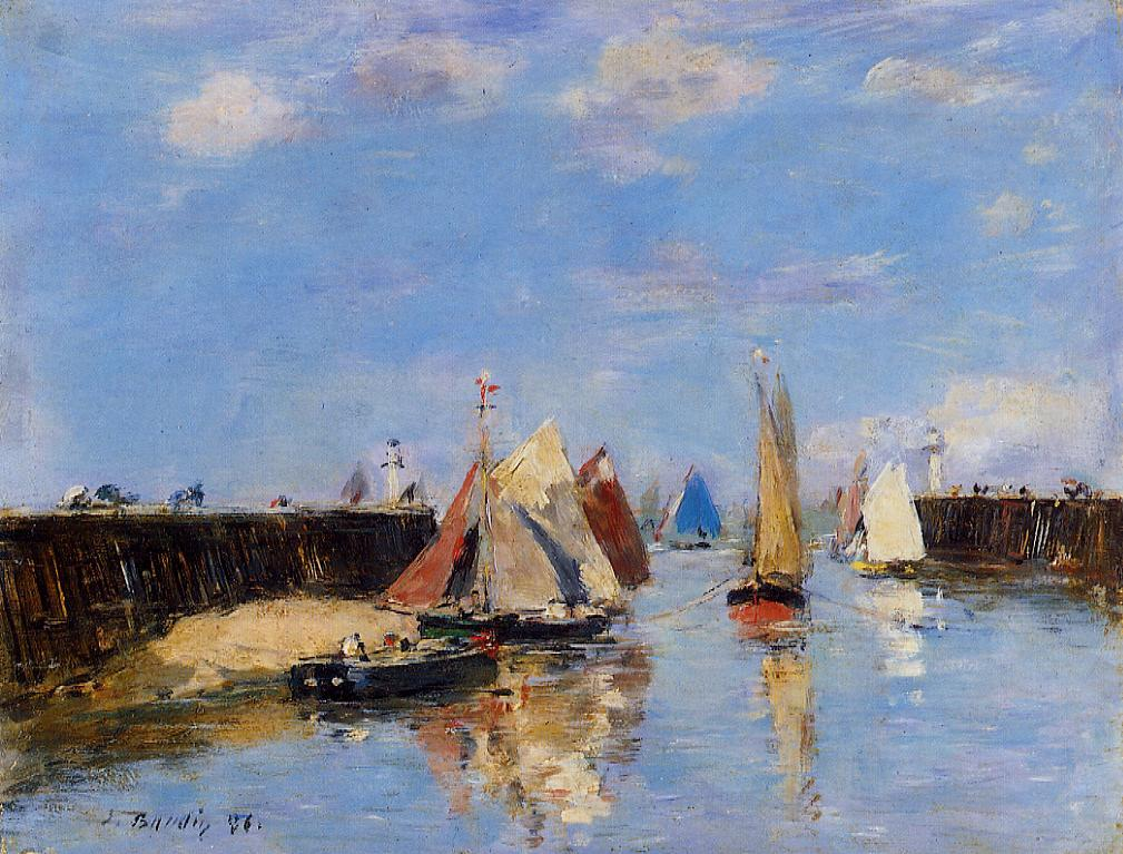 The Port of Trouville 1885 | Eugene Louis Boudin | Oil Painting