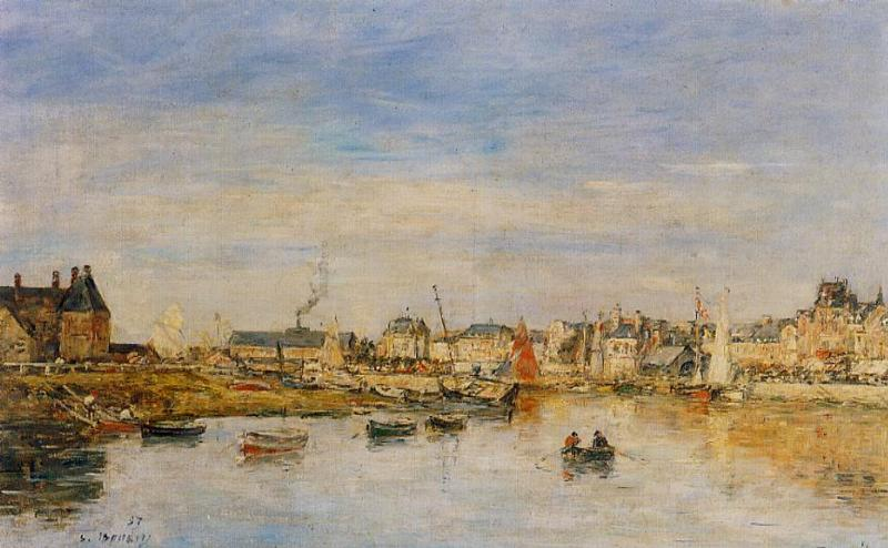 The Port of Trouville 1886 | Eugene Louis Boudin | Oil Painting