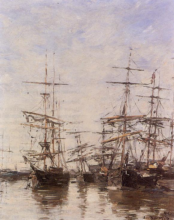 The Port of Trouville 1897 | Eugene Louis Boudin | Oil Painting