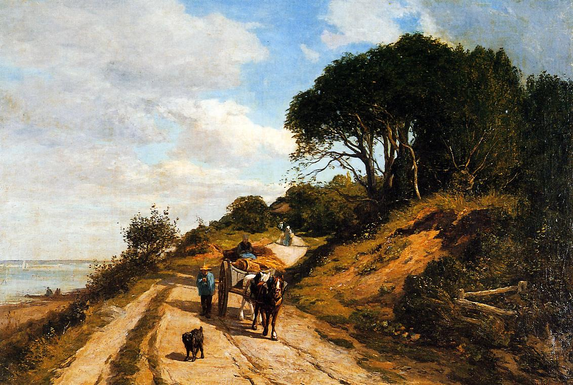 The Road from Trouville to Honfleur 1851-1855 | Eugene Louis Boudin | Oil Painting