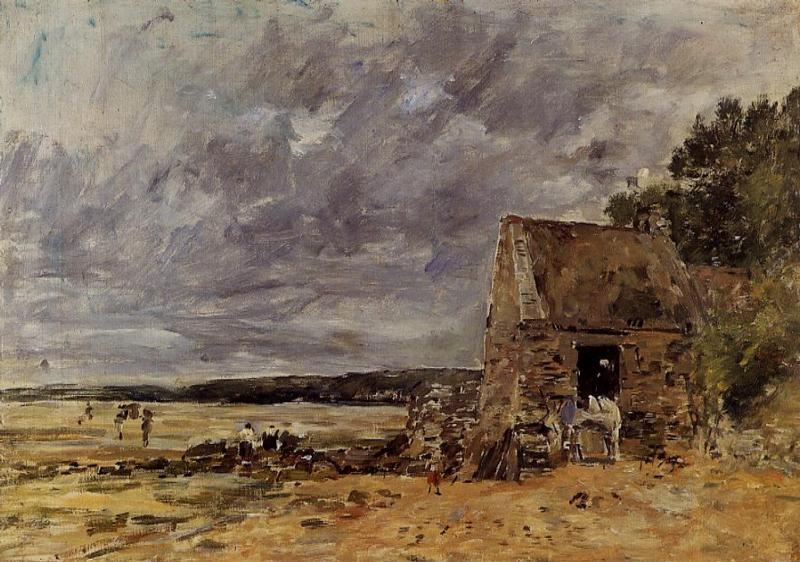 The Rocks at Saint-Vaast-la-Hougue 1892 | Eugene Louis Boudin | Oil Painting