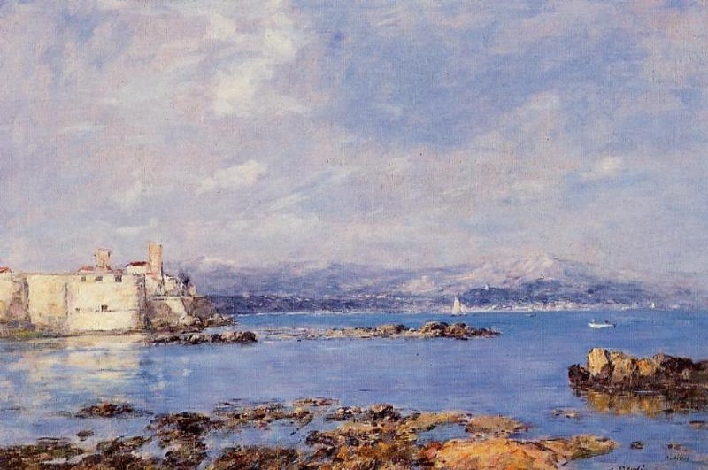 The Rocks of l'Ilette and the Fortifications 1893 | Eugene Louis Boudin | Oil Painting