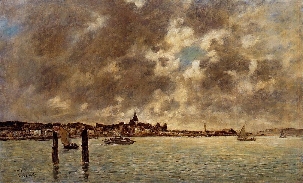 The Saine at Quillebeuf 1892-1894 | Eugene Louis Boudin | Oil Painting