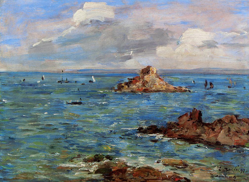 The Sea at Douarnenez 1897 | Eugene Louis Boudin | Oil Painting