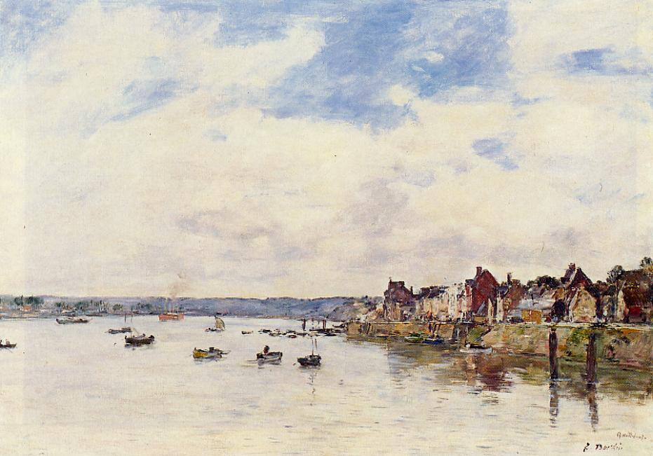 The Seine at Quillebeuf 1892-1894 | Eugene Louis Boudin | Oil Painting