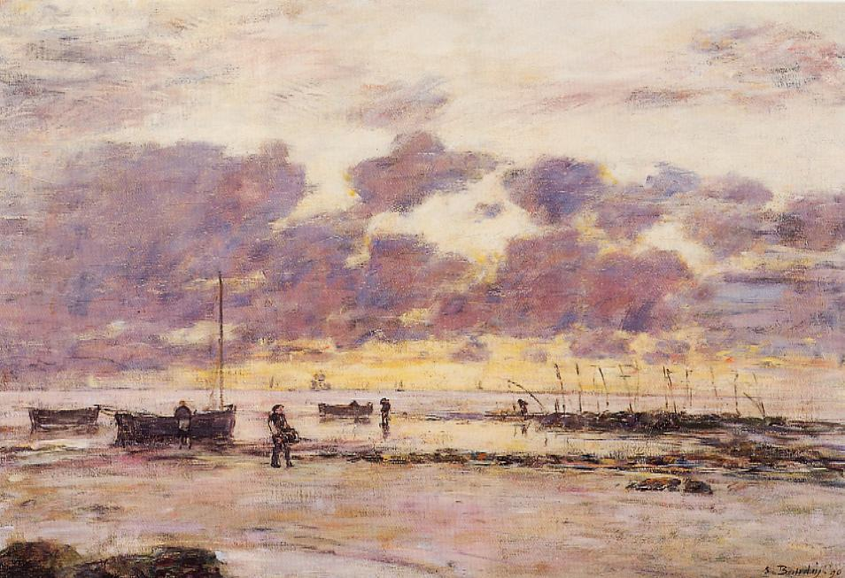 The Shores of Sainte Adresse at Twilight 1890 | Eugene Louis Boudin | Oil Painting