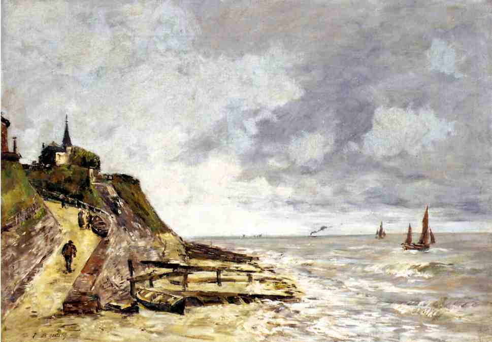 The Shore and the Sea Villerville 1893 | Eugene Louis Boudin | Oil Painting
