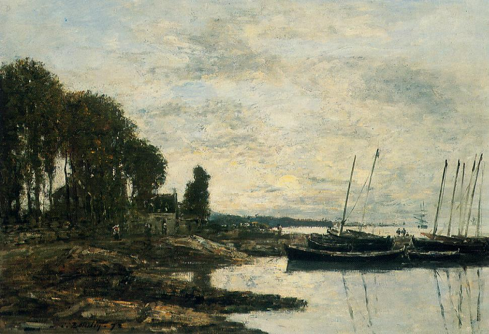 The Shore at Plougastel 1872 | Eugene Louis Boudin | Oil Painting