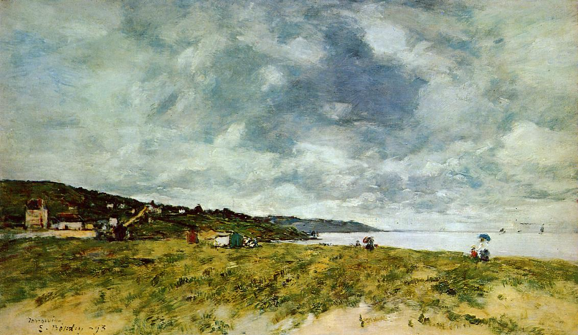The Shore at Tourgeville 1893 | Eugene Louis Boudin | Oil Painting