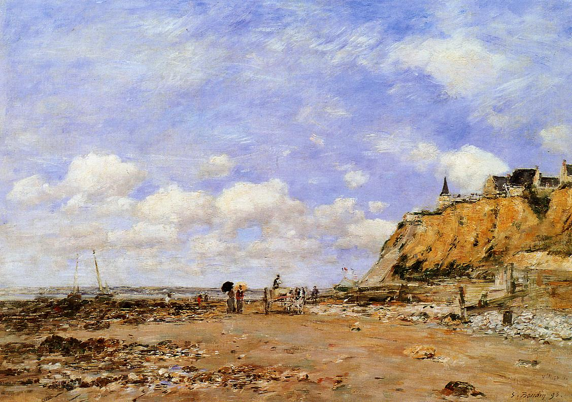 The Shore at Villerville 1893 | Eugene Louis Boudin | Oil Painting