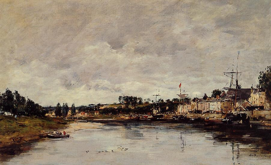 The Somme at Saint-Valery-sur-Somme 1890 | Eugene Louis Boudin | Oil Painting