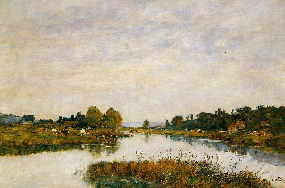 The Still River at Deauville 1895 | Eugene Louis Boudin | Oil Painting