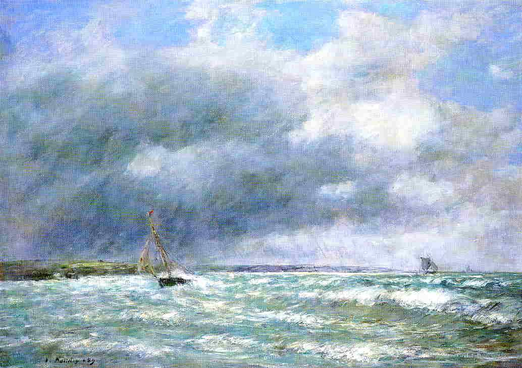 The Stranded Boat 1889 | Eugene Louis Boudin | Oil Painting