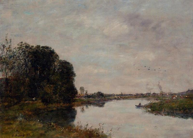 The Toques at Saint-Arnoult 1893 | Eugene Louis Boudin | Oil Painting