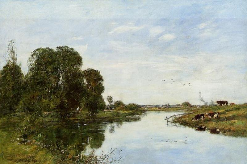 The Toques at Saint-Arnoult 1895 | Eugene Louis Boudin | Oil Painting