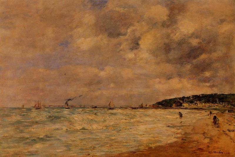 The Tourgeville Shores 1894 | Eugene Louis Boudin | Oil Painting