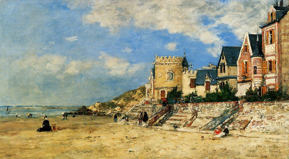 The Tour Malakoff and the Trouville Shore 1877 | Eugene Louis Boudin | Oil Painting